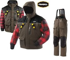 Frabill I3 Series Ice Fishing Suit Bibs & Jacket Size S - 3XL - Color Brown