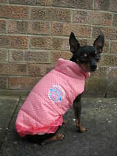 Pink Small dog clothes Chihuahua coat, Yorkie apparel warm clothing XS - M