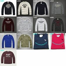 NWT ABERCROMBIE & FITCH MENS CLASSIC GRAPHIC TEE LONG SLEEVE SIZE S,M,L,XXL