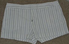 New JOIE Pinstripe Blue White Short Shorts Casual $158 Womens
