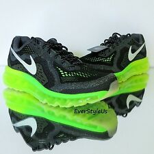 NEW NIKE Air Max 2014 Glow (GS) Running Shoes Black Green Flash sz 5Y(6W)-7Y(8W)