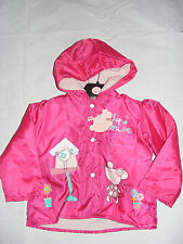 Baby Girls RockaBye Millie Mouse Jacket Coat Pink Age 12-18 18-24 Months New