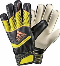 ADIDAS PREDATOR FINGERSAVE JUNIOR GOALKEEPER GLOVES YOUTH SIZES Black/Yellow