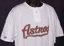 MLB Houston ASTROS MAJESTIC 2-Button HENLEY NWOT NEW Old Stock CIRCA 2000 2XL