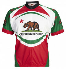 California Bear Cycling Jersey World Jerseys Mens short sleeve + socks bicycle