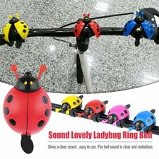 Lovely Kid Beetle Ladybug Ring Bell For Cycling Bicycle Bike Ride Horn Alarm DG