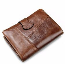 New  Leather Wallet Standstone Men Wallets Luxury Vintage Purse Coin Bag
