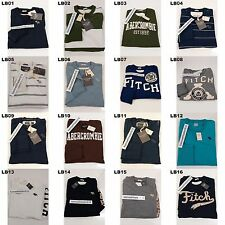 NWT ABERCROMBIE & FITCH MENS CLASSIC GRAPHIC TEE LONG SLEEVE SIZE SMALL