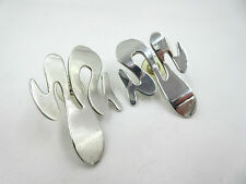 VINTAGE MODERNIST STERLING SILVER 925 PEIRCED EARRINGS TAXCO, MEXICO