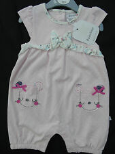 Girls Babaluno Baby Lovely Pink Floral Romper Playsuit Age 3-6 Months NEW