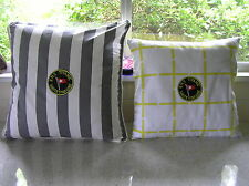 TITANIC cotton cushion covers in yellow/white or grey/white - inserts available