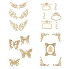 Vintage Unfinished Wood Butterfly Wings for DIY Craft Scrapbooking Embellishment