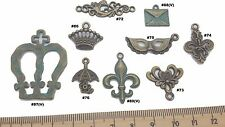 Flourish Crown Antique Bronze Verdigris Patina Alloy Charms Vintage Mixed Media