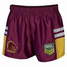 Brisbane Broncos NRL Kid's Supporter Shorts by Classic Sportswear