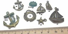 Boat Anchor Antique Bronze Verdigris Patina Alloy Charms Vintage Mixed Media