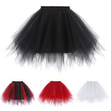 Women' Soft Tulle Netting Retro Dress Crinoline Petticoat Underskirt Tutu Skirt'