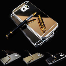 For Samsung Galaxy Smartphone NEW Luxury Mirror Soft TPU Silicone Gel Case Cover