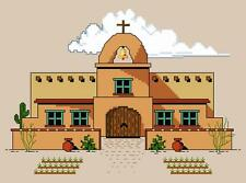 PUEBLO MISSION Southwest Design for Counted Cross Stitch PATTERN or COMPLETE KIT