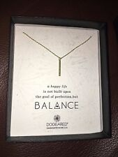 New Dogeared Sterling Silver Gold Balance Stardust Tube Necklace Pendant Chain