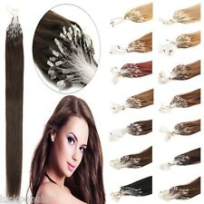 DIY Micro Ring Beads Loop Tip Remy Human Hair Extensions 20Inch Long 100S 200S