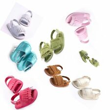 Vogue subsection tassel shoes baby newborn soft sold summer sandals 3 size #QTYM