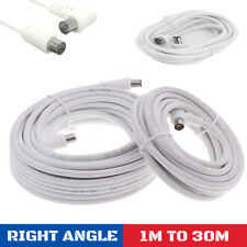 RIGHT ANGLE COAXIAL COAX AERIAL RF CABLE LEAD MALE TO MALE - TV/DVD/FREEVIEW/SKY