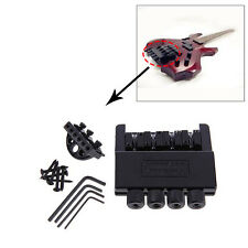 Black 4 String Headless Electric Bass Guitar Bridge System Guitar Parts