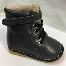 Sample #15 Boy's Toddler Leather Dark Grey Squeaky Boots Size 7 Only!