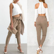New Sexy Women Skinny Long Pants High Waist Stretch Jeans Slim Pencil Trousers