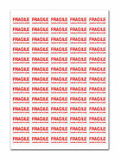 FRAGILE HANDLE WITH CARE STICKERS SELF ADHESIVE LABELS A4 SHEET SMALL