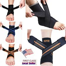 Neoprene Ankle Support Brace Stabilizer Tendon Protect Straps Basketball Running