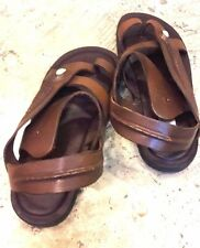 Mans Casual Thong Leather Sandals Hippie Gypsy Boho ankle Strap Flats Shoes Mult
