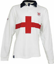 Mens Traditional England Flag Long sleeve Rugby shirt