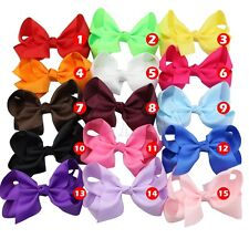 "5.5"" Huge Hair Bow Boutique Girl Baby Grosgrain Ribbon Alligator Clip Accessorie"