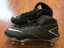 NEW Nike Super Speed D 3/4 Men's Football Cleats Black/White/Silver 396253