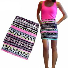 Summer Style Women Pencil Skirt Bodycon Striped Floral High Waist Slim Skirts