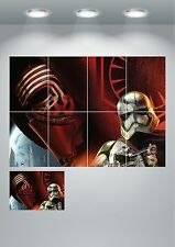 Starwars Trooper Kylo Wall Art Poster Print - A3 / A4 Sections or Giant 1Piece