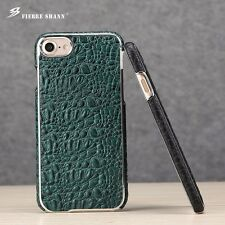 Luxury Deluxe Crocodile Pattern Real Cow Leather Hard Case For iPhone 7 /7 Plus