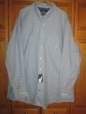 Nautica plaid dress shirt men's XXL 100% cotton NWT NEW