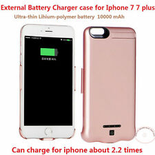 10000mAh External Battery Backup Charger Case Cover Power Bank For iPhone 7 7s