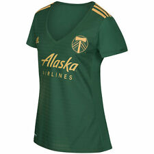 adidas Portland Timbers MLS 2017 Womens Soccer Home Jersey Green / Gold
