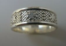 Sterling Silver Maltese Cross Solid Ring ALL SIZES UNISEX AMALFI CROSS