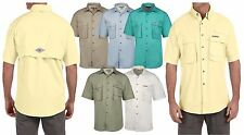 Hook & Tackle Mens Short Sleeve Fishing Shirt  Sport Shirts for Fisherman