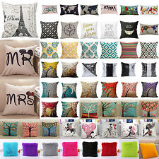 Home Decorative Cotton Linen Throw Pillow Case Romantic Sofa Waist Cushion Cover