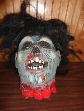 Halloween Zombie Life Size Head Prop Decoration Decor Horror Haunted House Party