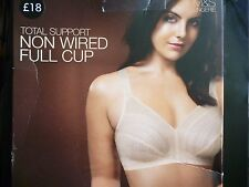 M&S Total Support Non Wired Full Cup Bra 38DD 40DD  Almond BNWOT