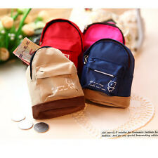 Mini Small Cute Women Lady Girl Pouch Coin Purse Backpack Canvas Bag Wallet TSUS