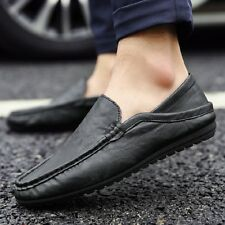 HOT Men Fit Driving Casual Boat Shoes Slip-on Peas Shoes Moccasin Leather Loafer