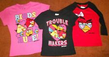 ANGRY BIRDS GIRLS T-SHIRTS SIZE 6-6X to 14-16, BRAND NEW. FREE SHIPPING!