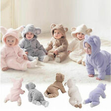 Newborn Infant Boy Girl Romper Hooded Jumpsuit Bodysuit Baby Outfits Clothes Set